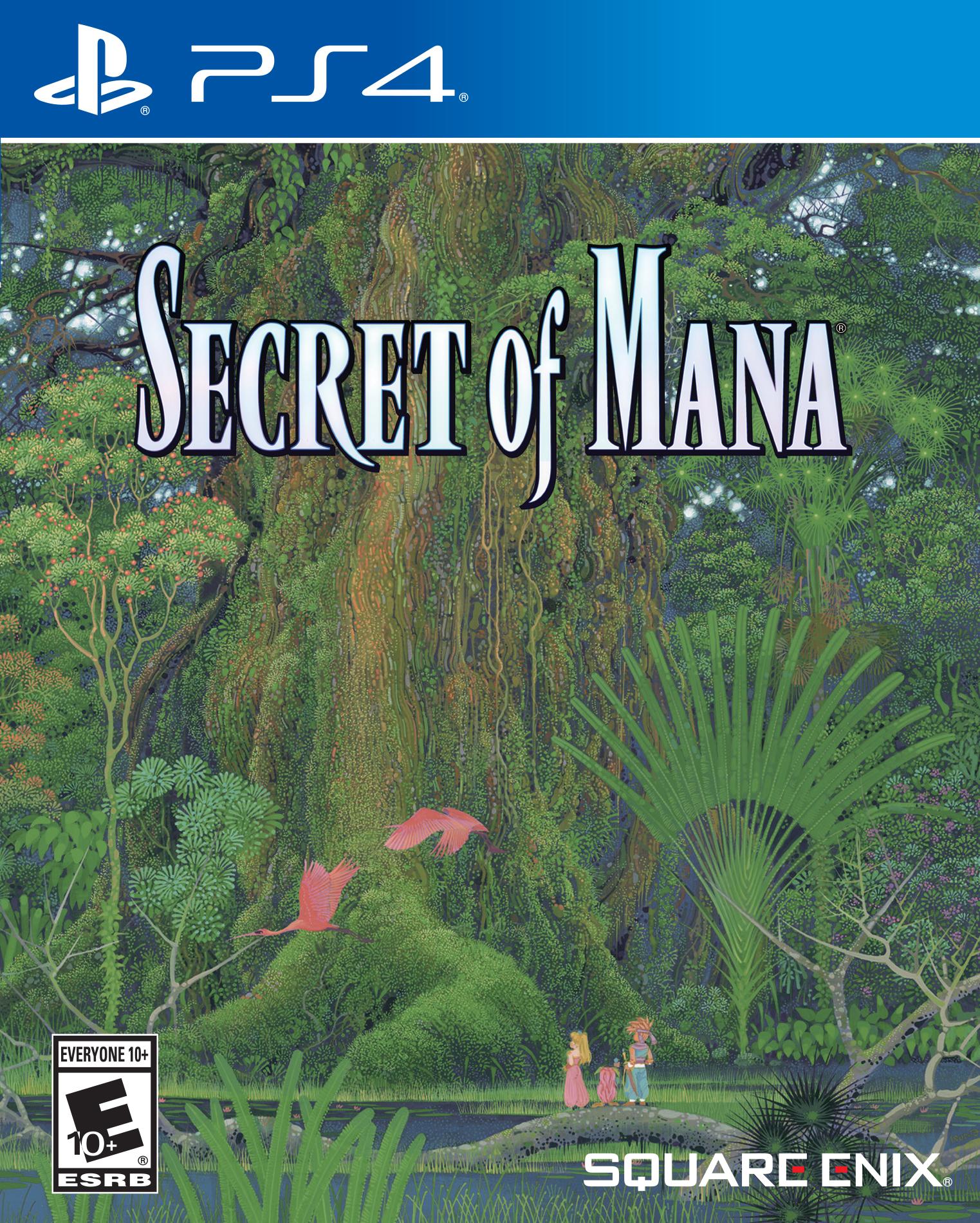 Mídia física de Secret of Mana PS4